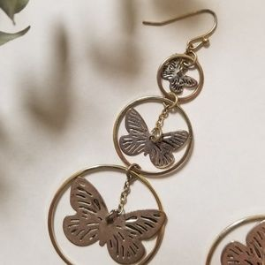 167dd6b4e Forever 21 Jewelry - CLEARANCE Forever 21 Gold Butterfly Hoop Earrings